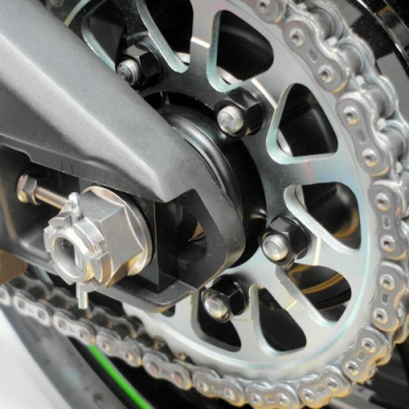 Алюминиевый блок регулировки цепи Pro-Bolt ZX6 / ZX7 / ZX9 / ZX12 - motodom.com.ua