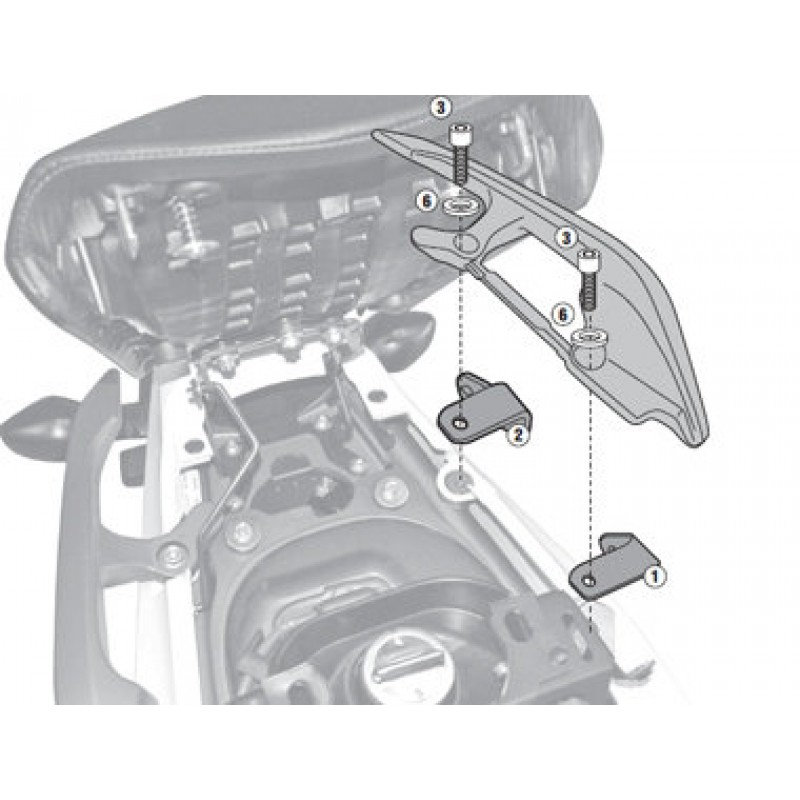 Адаптеры установки креплений кофров Givi PL1111 / PLX1111 / TE1111 NC700X 2012-2015 - motodom.com.ua
