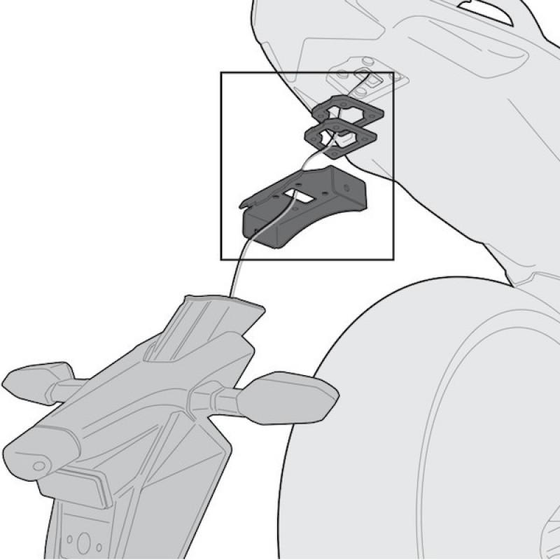 Адаптеры установки креплений кофров Givi TE4109 Z800 2013-17 - motodom.com.ua