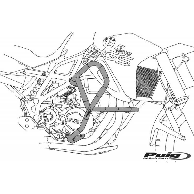 Дуги безопасности Puig G650GS 2010-16 - motodom.com.ua