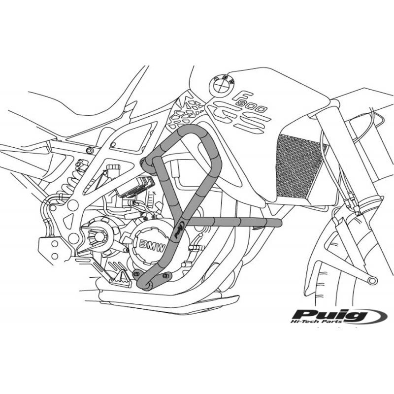 Дуги безопасности Puig KLE650 Versys 2010-14 - motodom.com.ua