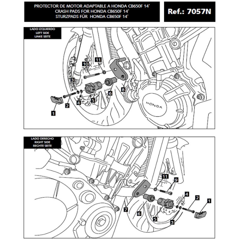 Крашпады Puig R12 CB650F 2014-16 - motodom.com.ua