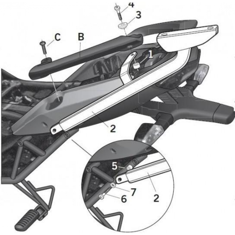Крепление кофра Shad (KLE650 Versys 2010-11) - motodom.com.ua