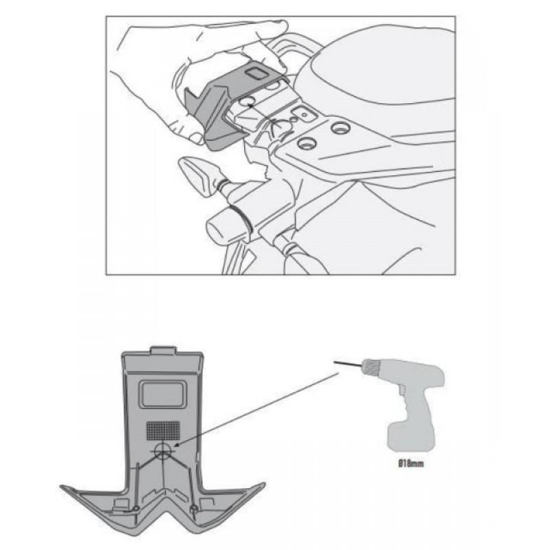 Крепление кофра Givi ETV1200 Caponord 2013-17 - motodom.com.ua