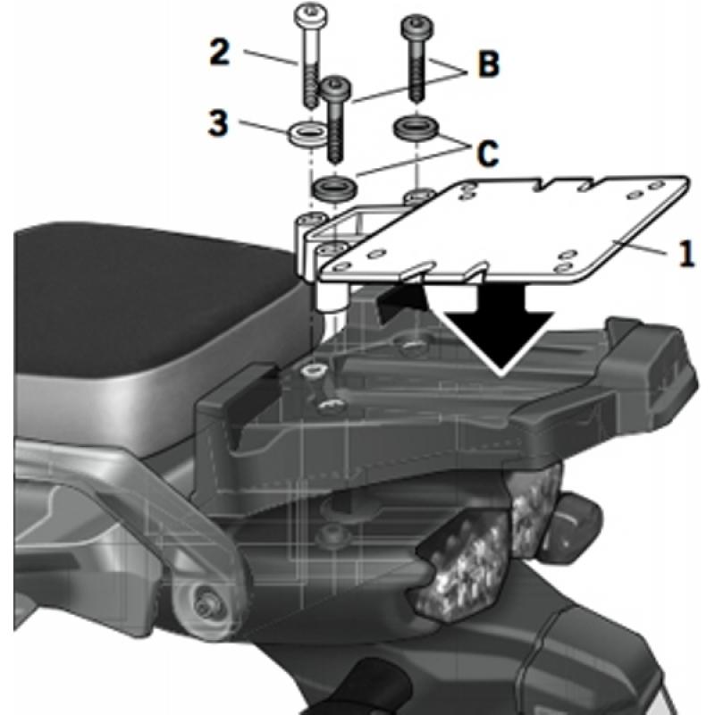 Крепление кофра Shad (XT1200 Supertenere 2010-12) - motodom.com.ua