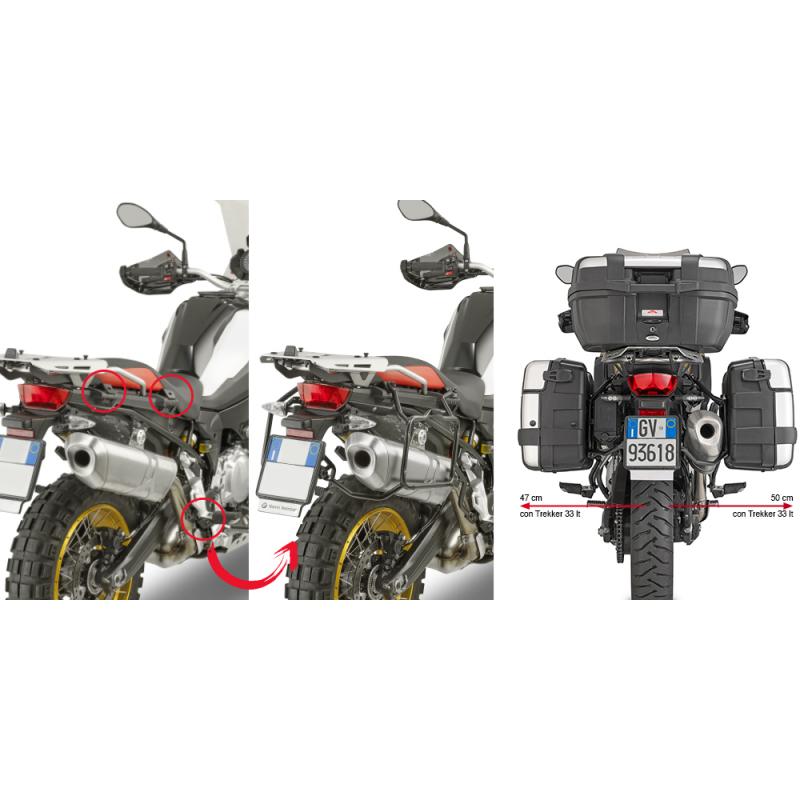 Крепление кофров Givi F750GS / F850GS / Adventure 2018-2020 - motodom.com.ua