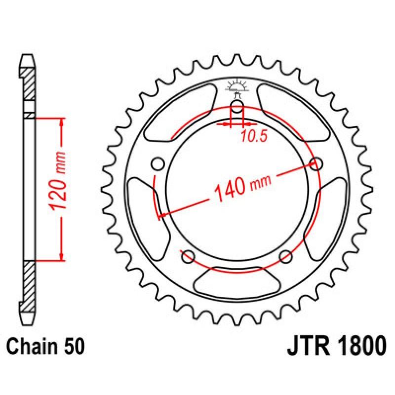 Звезда задняя JT JTR1800.40 Suzuki SV1000 2003-07 - motodom.com.ua